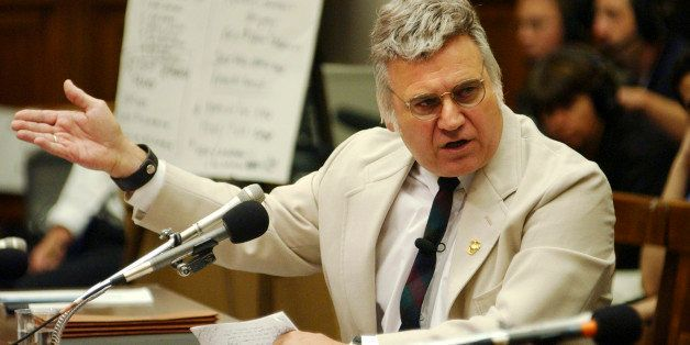 UNITED STATES - JULY 17:  Rep. James Traficant, D-Ohio, testifies before the House Ethics Committee, Wednesday.  (Photo By To
