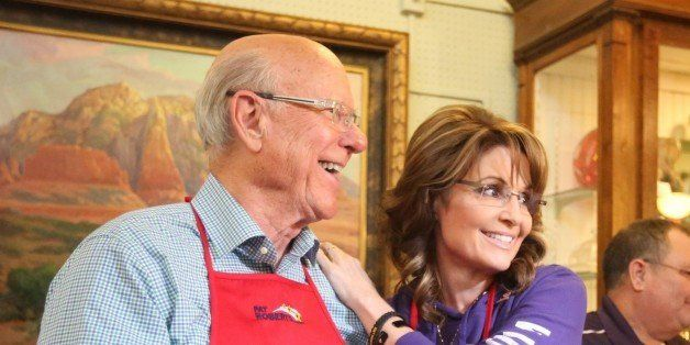 Governor Sarah Palin joined Senator Pat Roberts for a pancake breakfast at the Independence Historical Museum and Art Center
