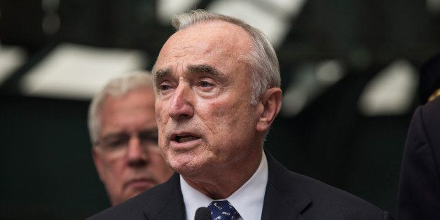 NEW YORK, NY - SEPTEMBER 25:  New York Police Department Commissioner Bill Bratton speaks at a press conference announcing th
