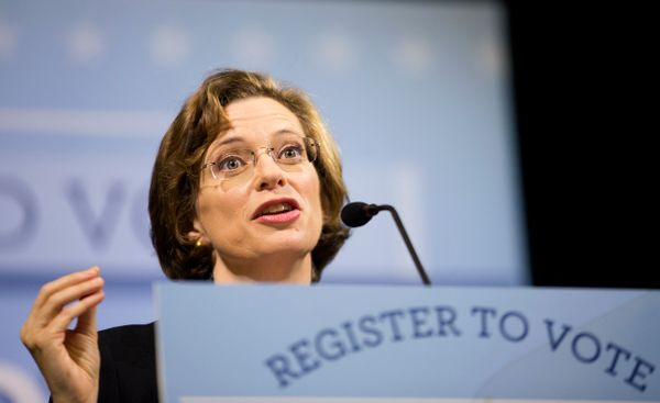 The second of the Democrats' two pickup opportunities in red states is in Georgia, where nonprofit executive Michelle Nunn an