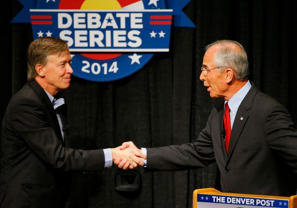 "Hickenlooper has been forced to <a href=""http://www.huffingtonpost.com/2014/08/26/john-hickenlooper-death-sentence_n_5719183."