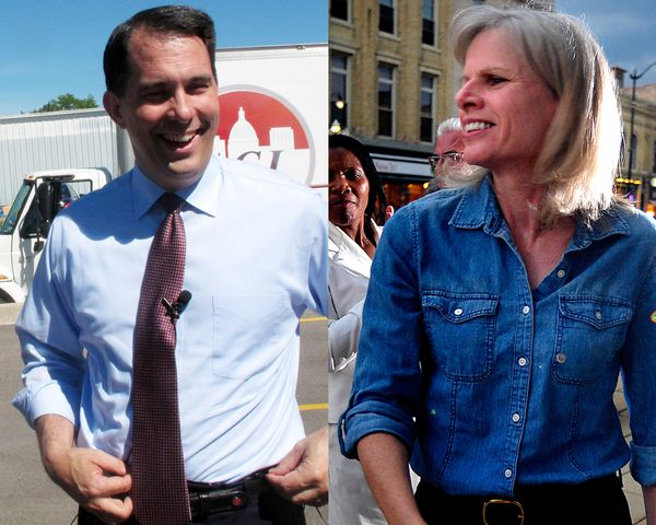 "Walker has the edge against businesswoman Mary Burke (D) in the <a href=""http://elections.huffingtonpost.com/pollster/2014-wi"