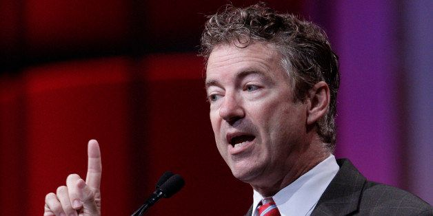 CINCINNATI, OH - JULY 25: Senator Rand Paul (R-KY) speaks at the 2014 National Urban League Conference July 25, 2014  in Cinc