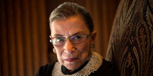 WASHINGTON, DC - AUGUST 30: Supreme Court Justice Ruth Bader Ginsburg, celebrating her 20th anniversary on the bench, is phot