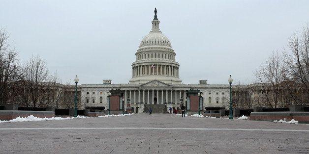 WASHINGTON, DC - MARCH 19:  The U.S. Capitol dome is seen before work begins on a two-year, $60 million rnovation of March 19
