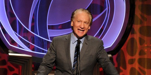 EXCLUSIVE - Bill Maher speaks on stage at the 2014 Television Academy Hall of Fame on Tuesday, March 11, 2014, at the Beverly