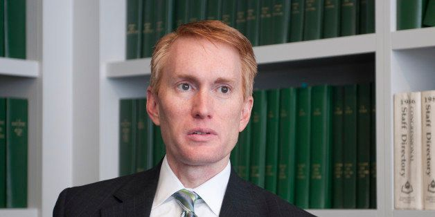 UNITED STATES - June 10: Congressman James Lankford, R-OK, is interviewed by Roll Call. Lankford is currently running for Sen