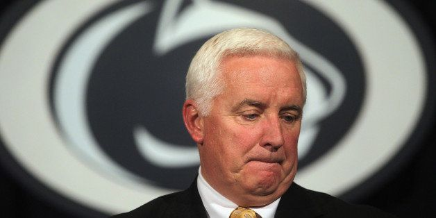 STATE COLLEGE, PA - NOVEMBER 10:  Pennsylvania Governor Tom Corbett speaks at a news conference following a night of rioting