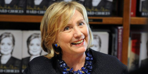 Hillary Rodham Clinton signs copies of her book Hard Choices at Books and Books on October 2, 2014 in Coral Gables, Florida.(