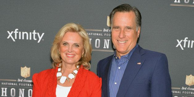 NEW YORK, NY - FEBRUARY 01:  Ann Romney and former Governor of Massachusetts Mitt Romney attend the 3rd Annual NFL Honors at