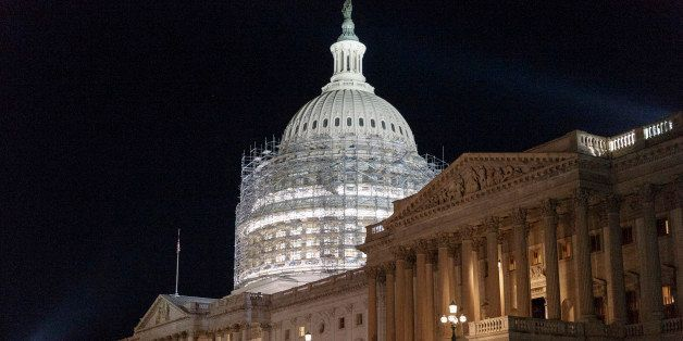 Scaffolding continues to rise around the Capitol Dome for a long-term repair project to fix cracks, leaks and corrosion in th