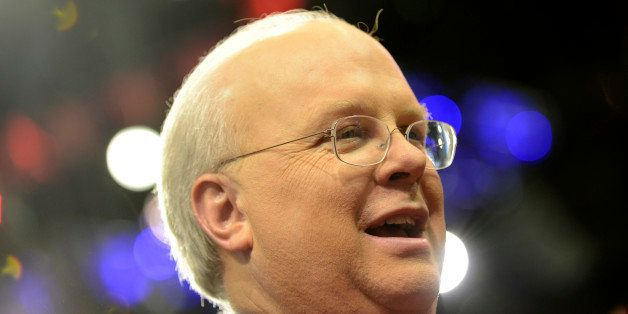American political consultant Karl Rove is seen at the Tampa Bay Times Forum in Tampa, Florida, during final preparations for