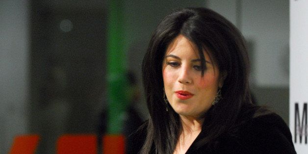 Monica Lewinsky during Opening Night Party for Nigel Parry's 'Blunt Exhibition' Hosted by Men's Health - December 5, 2006 at MILK Studios in New York City, New York, United States. (Photo by Michael Loccisano/FilmMagic)