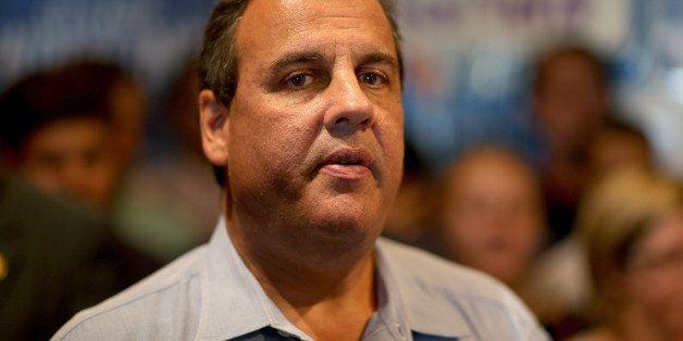 VERO BEACH, FL - OCTOBER 16:  New Jersey Governor Chris Christie campaigns with Florida Governor Rick Scott as they make a ca