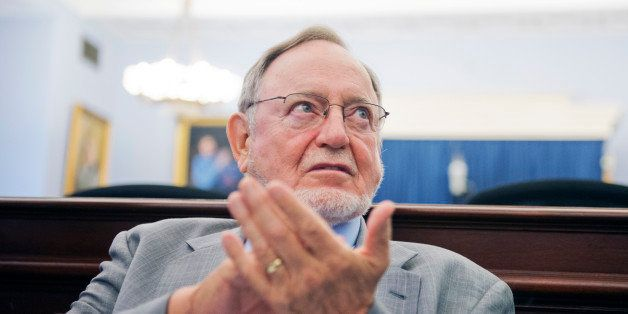 UNITED STATES - JULY 23: Rep. Don Young, R-Alaska, attends an event in Cannon Building on reuniting military service dogs wit