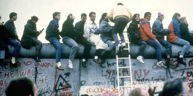 GERMANY - NOVEMBER 10:  The fall of the Berlin Wall took place during the night of November 10, 1989. Crowds rushed there to