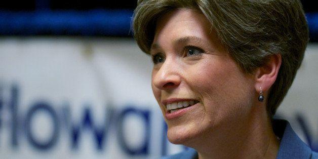 CEDAR RAPIDS, IOWA - OCTOBER 13:  Iowa Republican State Senator and U.S. Senate candidate Joni Ernst address the media after