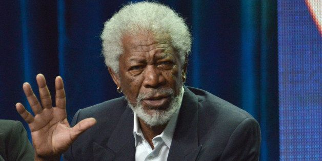 """Executive Producer Morgan Freeman speaks on stage during the """"Madam Secretary"""" panel at the CBS 2014 Summer TCA  held at the"""