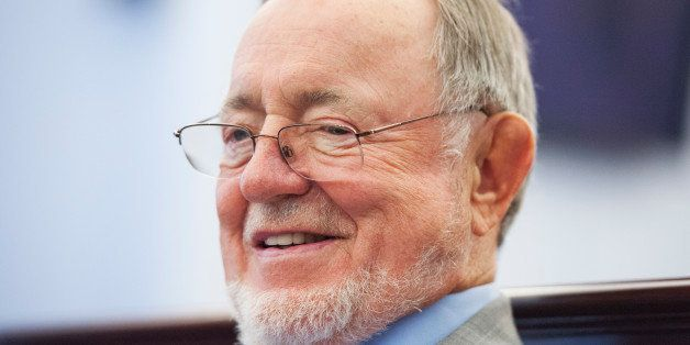 UNITED STATES - JULY 23: Rep. Don Young, R-Alaska, attends an event in Cannon Building on reuniting military service dogs with their handlers, July 23, 2014. (Photo By Tom Williams/CQ Roll Call)