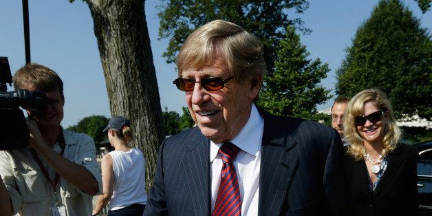 WASHINGTON, DC - JUNE 25:  Attorney Ted Olson arrives outside the U.S. Supreme Court building on June 25, 2013 in Washington,