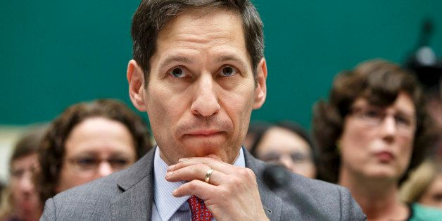 Centers for Disease Control and Prevention (CDC) Director Dr. Tom Frieden listens as he testifies on Capitol Hill in Washingt
