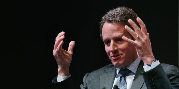 WASHINGTON, DC - MAY 19:  Former U.S. Treasury Secretary Timothy Geithner discusses his new book 'Stress Test, Reflections on
