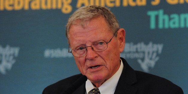 WASHINGTON, DC - JUNE 25:  Sen. Jim Inhofe (R-OK) speaks at the 5th Birthday And Beyond event at the Russell Senate Office Bu