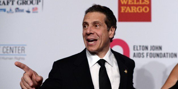 Honoree, New York Governor Andrew Cuomo, arrives to attend the Elton John AIDS Foundation's 13th Annual An Enduring Vision Be