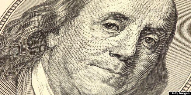 Benjamin Franklin on a one hundred dollar bill.