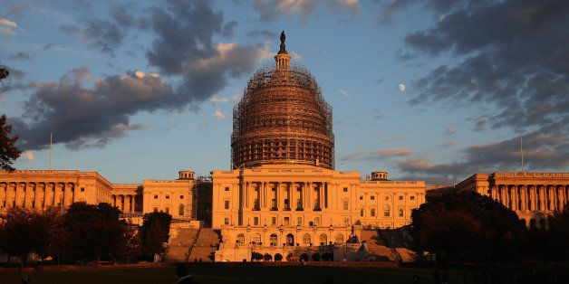 WASHINGTON, DC - NOVEMBER 03:  The afternoon sun hits the U.S. Capitol on the eve of the nation's mid-term elections, Novembe