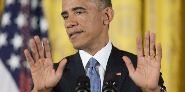 President Barack Obama gestures as he speaks during a news conference in the East Room of the White House, on Wednesday, Nov. 5, 2014, in Washington. Obama is holding an afternoon news conference Wednesday to share his take on the midterm election results after his party lost control of the Senate, and lost more turf in the GOP-controlled House while putting a series of Democratic-leaning states under control of new Republican governors. (AP Photo/Pablo Martinez Monsivais)