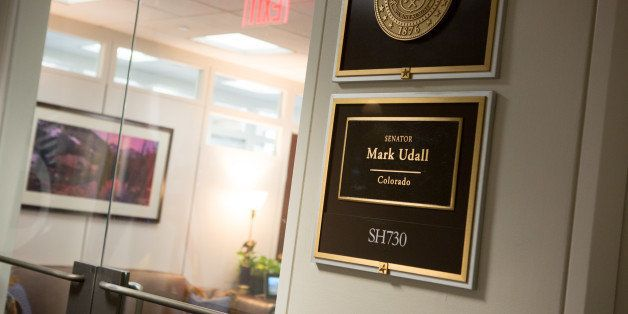 WASHINGTON, DC - NOVEMBER 5:  The Capitol Hill office of U.S. Senator Mark Udall (D-CO)  is quiet the day after he lost to Re