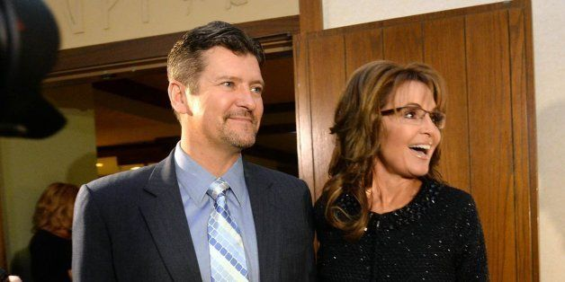 Sarah Palin, right, former Governor of Alaska, and her husband, Todd, arrive at the Grove Park Inn for a celebration of Billy