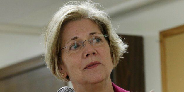 Democrat Elizabeth Warren campaigns for the U.S. Senate at a senior housing complex in Quincy, Mass., Tuesday Oct. 16, 2012.