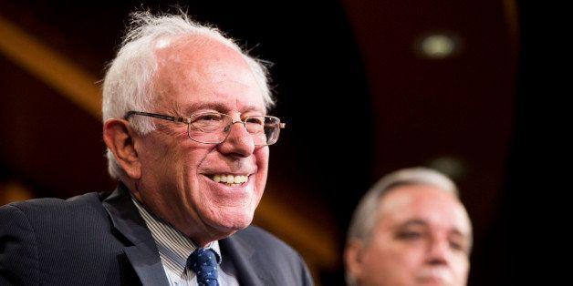 UNITED STATES - JULY 26: Senate Veterans' Affairs Chairman Bernie Sanders, I-Vt., left, and House Veterans' Affairs Chairman