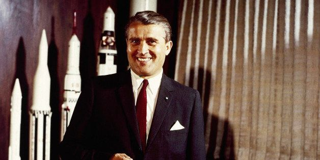Werner Von Braun, one of the leading figures in the development of rocket technology in Nazi Germany and the United States, s