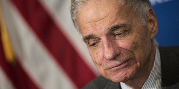Ralph Nader waits to speak at a luncheon at the National Press Club September 4, 2014 in Washington, DC.  Consumer advocate R