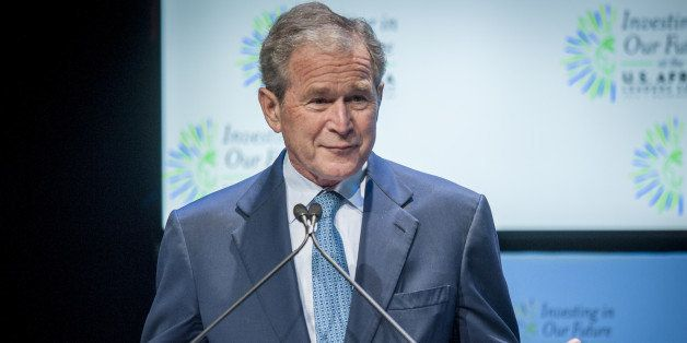 WASHINGTON, DC - AUGUST 6:  Former U.S. President George W. Bush speaks at a Spousal Symposium at the John F. Kennedy Center