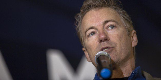 LOUISVILLE, KY - NOVEMBER 3: U.S. Sen. Rand Paul (R-KY) speaks at an election rally for U.S. Sen. Mitch McConnell (R-KY) at B