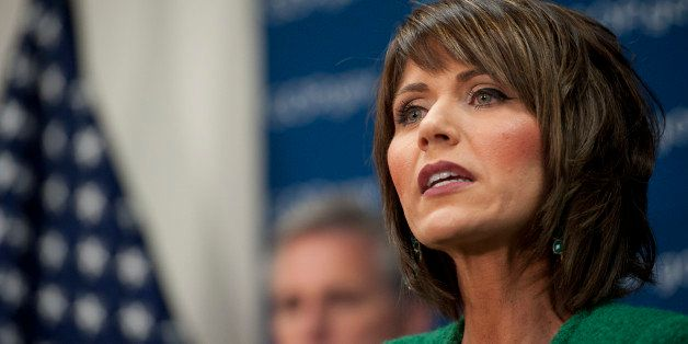 UNITED STATES - Jan 14: Rep. Kristi Noem, R-SD., during a news conference after the House Republican Caucus in the U.S. Capit