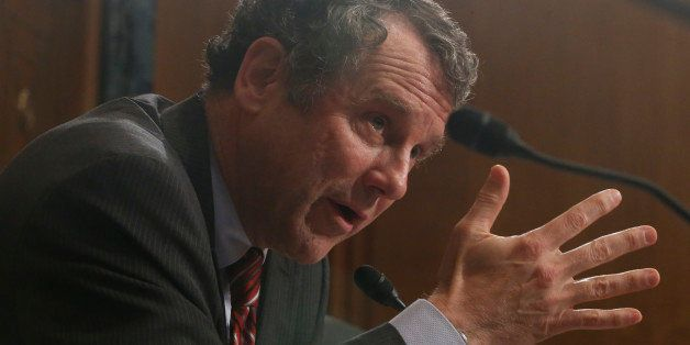 Sen. Sherrod Brown, D-Ohio, questions ousted IRS Chief Steve Miller, former IRS Commissioner Douglas Shulman, J. Russell Geor