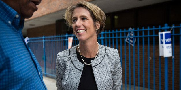 NEW YORK, NY - SEPTEMBER 09:  Zephyr Teachout, a democratic primary challenger to New York Governor Andrew Cuomo, greets vote