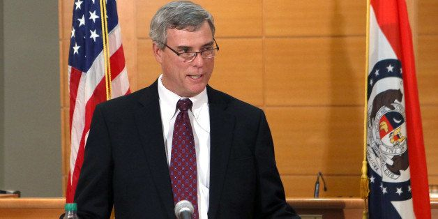 St. Louis County Prosecutor Robert McCulloch announces the grand jury's decision not to indict Ferguson police officer Darren