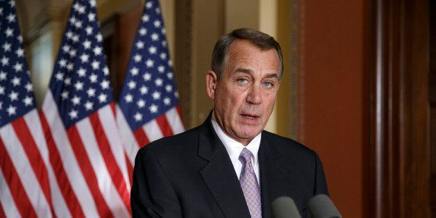House Speaker John Boehner of Ohio responds to President Barack Obama's intention to spare millions of illegal immigrants fro