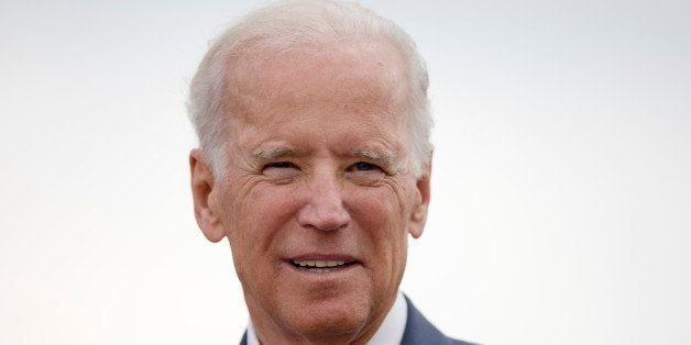 Vice President Joe Biden speaks after a tour of a dredging barge Thursday, Oct. 16, 2014, at Penn's Landing along the Delawar