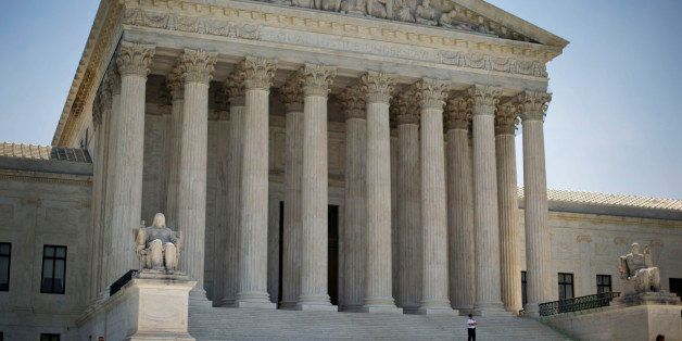 The Supreme Court building in Washington, Monday, June 30, 2014, following various court decisions. The court ruled on birth