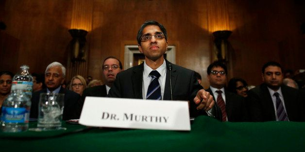 Dr. Vivek Hallegere Murthy, President Barack Obama's nominee to be the next U.S. Surgeon General, prepares to testify on Capi