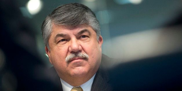 Richard Trumka, president of the AFL-CIO, listens to a question during an interview in Washington, D.C., U.S., on Tuesday, Ma