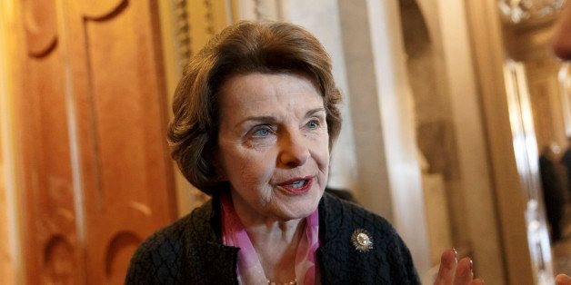 Senate Intelligence Committee Chair Sen. Dianne Feinstein, D-Calif. arrives at the Senate chamber on Capitol Hill in Washingt