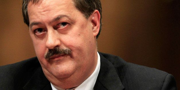 WASHINGTON - MAY 20:  Chairman and CEO of Massey Energy Company Don Blankenship listens during a hearing before the Labor, He